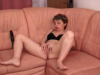 Hot Horny Granny Gets Off Alone