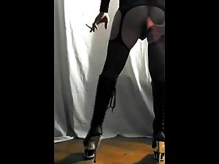 Me Dressed Smoking Fucking My Ass And Pumping My Cock