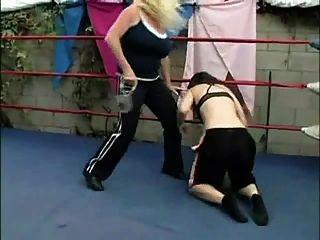 Blonde On Brunette Humiliation