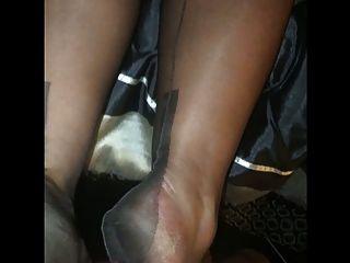 Nylon Stocking Foot Job