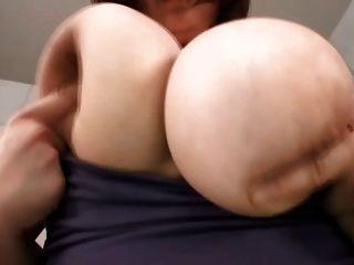 Guy Crushing Japanese Big Tits