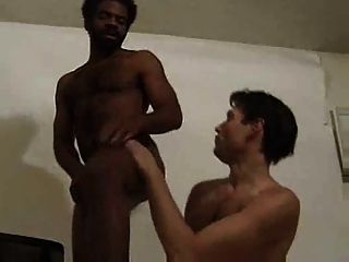 Hairy Black And White Gay Duo