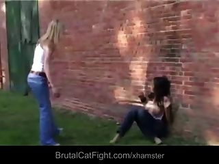 Rough Catfight At A Carwash