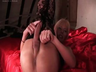 Toying Blonde Shemale
