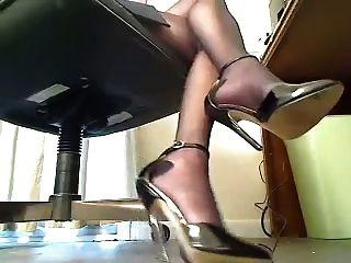 Heels Under Desk