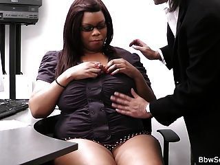 He Cheating With Fat Ebony Secretary