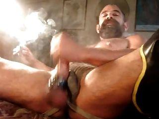 Mr Daddy Enjoying A Cigarette
