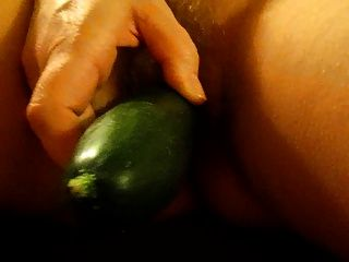 Wife Fucks Herself With Cucumber.