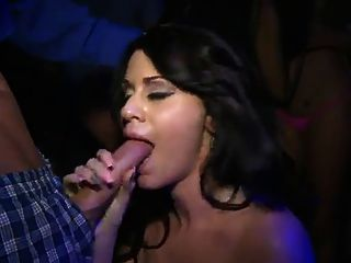 Slutty Girls Eat Pussy In The Club