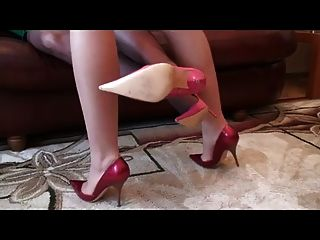 Tan Black Stockings Stiletto High Heels Fuck Me Pumps Sexy
