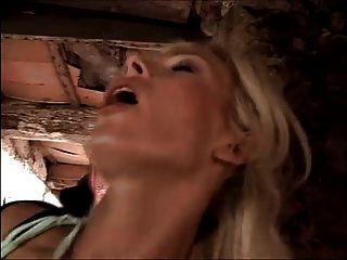 Blonde Milf Whore Fucked In The Barn