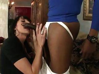 Mature Busty Milf Sucking Black Cock