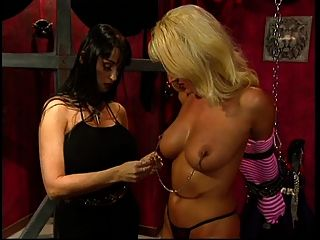Big Tits Blonde Slave Pleasured By Her Big Tits Mistress