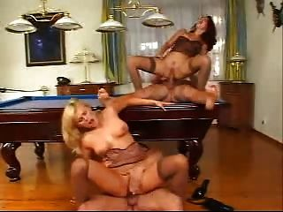 Blonde And Brunette Anal Foursome
