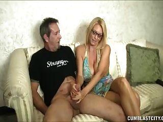 Huge-titted Milf Enjoys Jerking Cocks