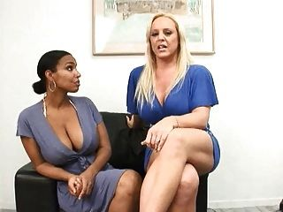 Soleil Suck A Cock With Blonde Milf