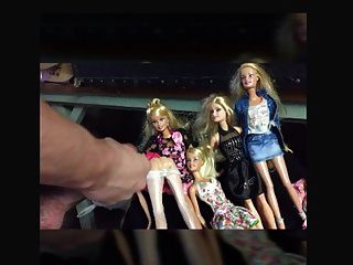 Barbie Dolls Get Cummed