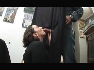 Leila Dped In A Gangbang