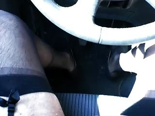 Wanking In Lingerie On A Parking Place 1