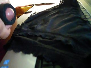 Cumming On Black Panties