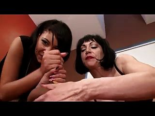 Femdom Wanked Into Mouth