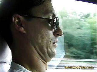 German Girl Sucks Cock In Car Trip