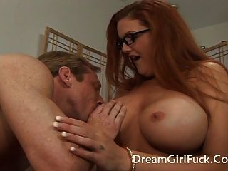 Kitty Lynxx - Great Titties Redhead Fucked On Her Shave Puss