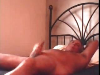 Daddy Jerkof Big Load On Bed