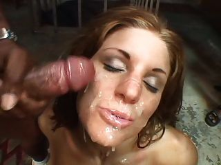Hot Cum Lover Gets Her Face Covered