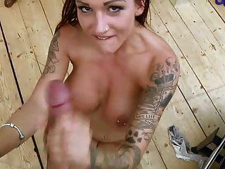 British Slut Chantelle Fox Takes Sticky Pov Facial Cumshot