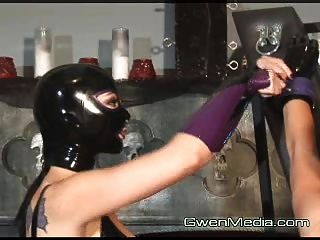 January Seraph And Karrlie Dawn Femdom Latex Flogging