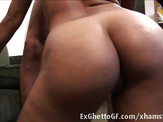 Curved Ebony Babe Fucked Hard