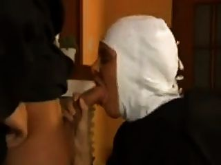 Nun In Fishnet Pantyhose Fucks