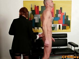 Femdom Cfnm Babe Gives Head
