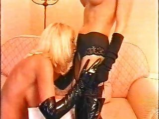 Lesbians In Thigh High Boots And Gloves