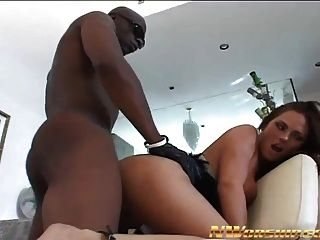 Hot Brunette Woman Interracial Porn With Big Black Dick