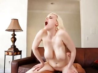 Hot Blonde With Nice Hangers Fucked