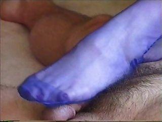 Bluestocking Footjob