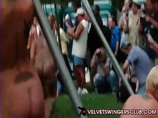 Velvet Swingers Club At All Nude Resort Panderosa Having Fun