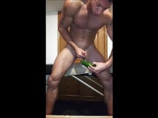 Hot Guy On Cam Playing With A Cucumber