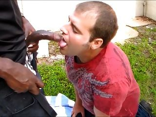 Sucking The Bbc In The Backyard And Getting A Facial