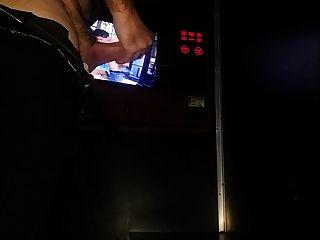 Sex Shop Video Booth Stroke....nice Cum Shot