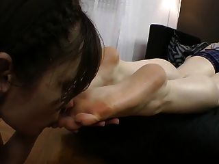 Russian Lesbian Foot Slave Used Part 2