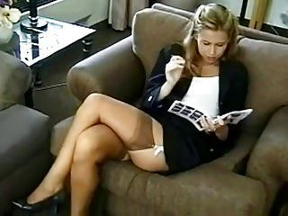 Hot Lady In Stockings