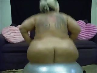 Solo #66 (ssbbw) Bouncing On A Gym Ball