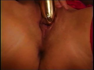 Mature Chick In Red Dildo And Cock Fucked