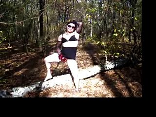 Kornelia Crossdresser In The Forest