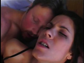 Gorgeous Brunette With Nice Tits Gets Her Feet Sucked On Bed