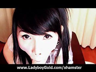 Ladyboy Yoko Ball Tie Sperm Release