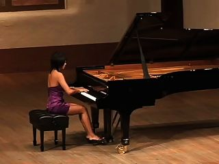 Beautiful Asian Girl Plays Russian Composer Scriabin